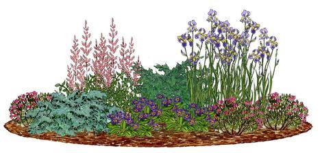 Kvetinový záhon lila - ružový - vhodný pre otvorené slnečné miesta