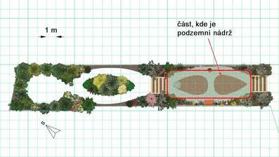 """Obr. 4: Plánek se """"zahradním pokojem""""."""
