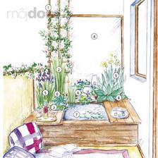 Malé vodné prvky v záhradnej kompozícii - romantika na balkóne