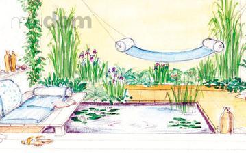 Návrh jednoduchej modernej záhrady na terase či v átriu, kde to doslova dýcha pohodou a pokojom.