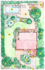 Záhrada s červenými karasmi