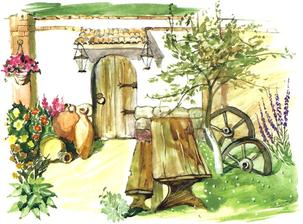 záhradné zákutie