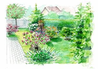 Záhrada s magnóliou