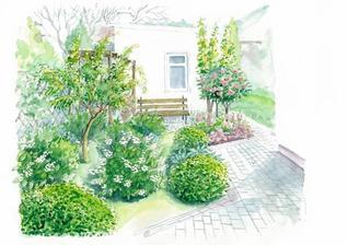 Okrasná záhrada s ovocím