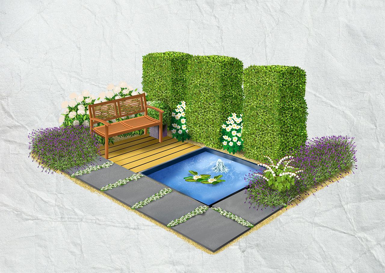 Záhony, výsadby a nejaké tie doplnky - formálna záhrada