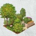 Záhrada s plodmi a bylinami