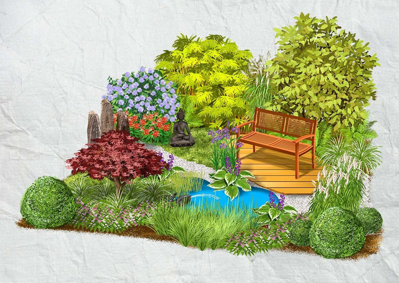 Záhony, výsadby a nejaké tie doplnky - Ázijská záhrada