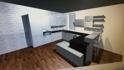 náš prvý návrh kuchyne .... este vychytame nejake muchy, kym sa bude realizovat... :) ... navrhovaný len kvôli tomu, aby sme vedeli kde dať okno :)