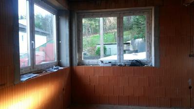 okná v jedálni