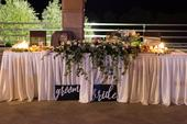 Nápisy bride a groom,