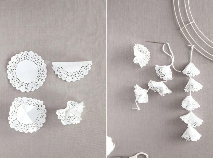 Inspirace k vyrábění - řetěz z dortových krajek