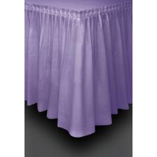 Koupená rautová sukně a ubrusy na zahradu