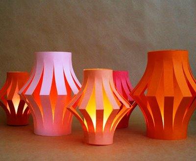 Inspirace k vyrábění - stačí sklenice a papír a lucerny jsou na světě :-)