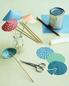 Inspirace k vyrábění - Deštníčky do koktejlů určo budou!