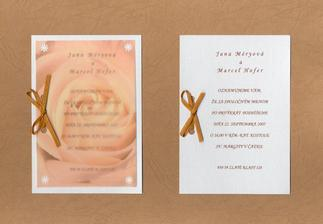 ... naše svadobné oznámenie ...