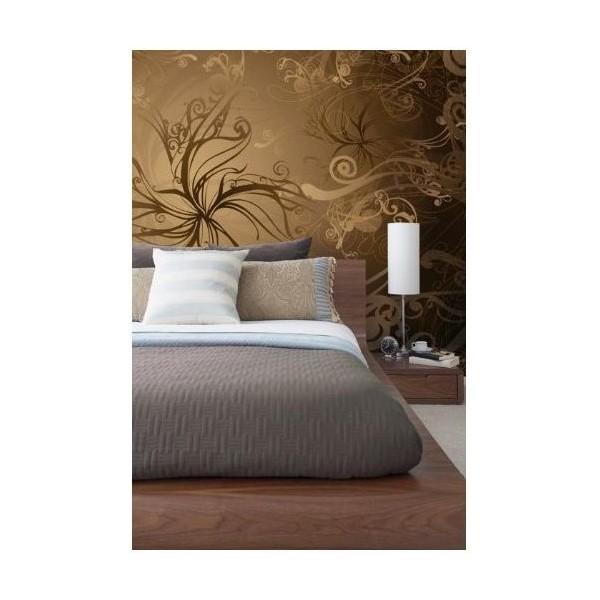 Ako mám vymalovať steny k týmto tapetám?zlatá v spálni,zelená v obyvačke - Obrázok č. 1