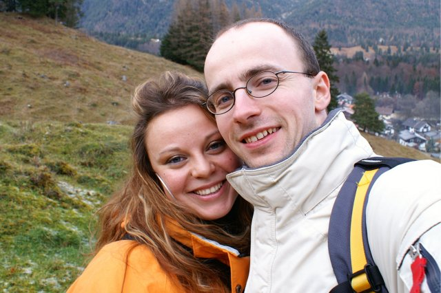 Nase male pripravy (2 svadby behom 1 roka)  ;)) - Nase prve spolocne foto...Wanderung bei Garmisch-Partenkirchen