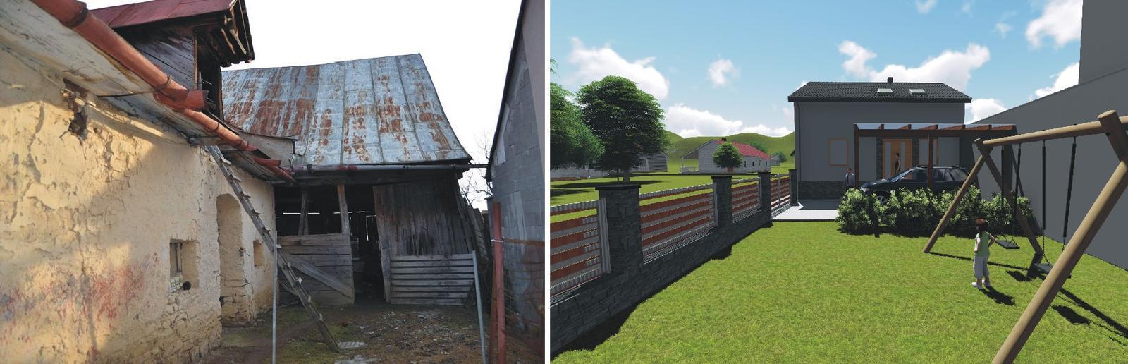 Náš Domček - prestavba starých hospodarskych budov na doma z tejto strany asi najväcsia zmena
