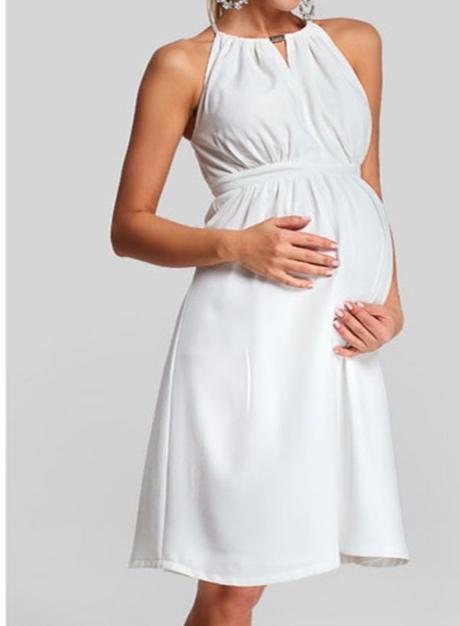 Svatební/společenské těhotenské šaty - Obrázek č. 1
