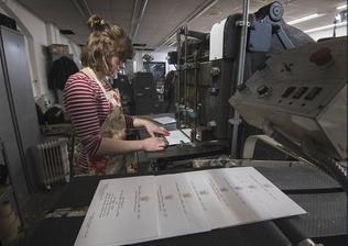 V tiskárně Bernard Westwood