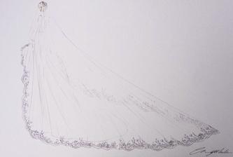 Návrh svatebních šatů