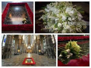 20. května 2018 byla dle královské tradice položena Meghanina svatební kytice na hrob neznámého vojína ve Westminster Abbey