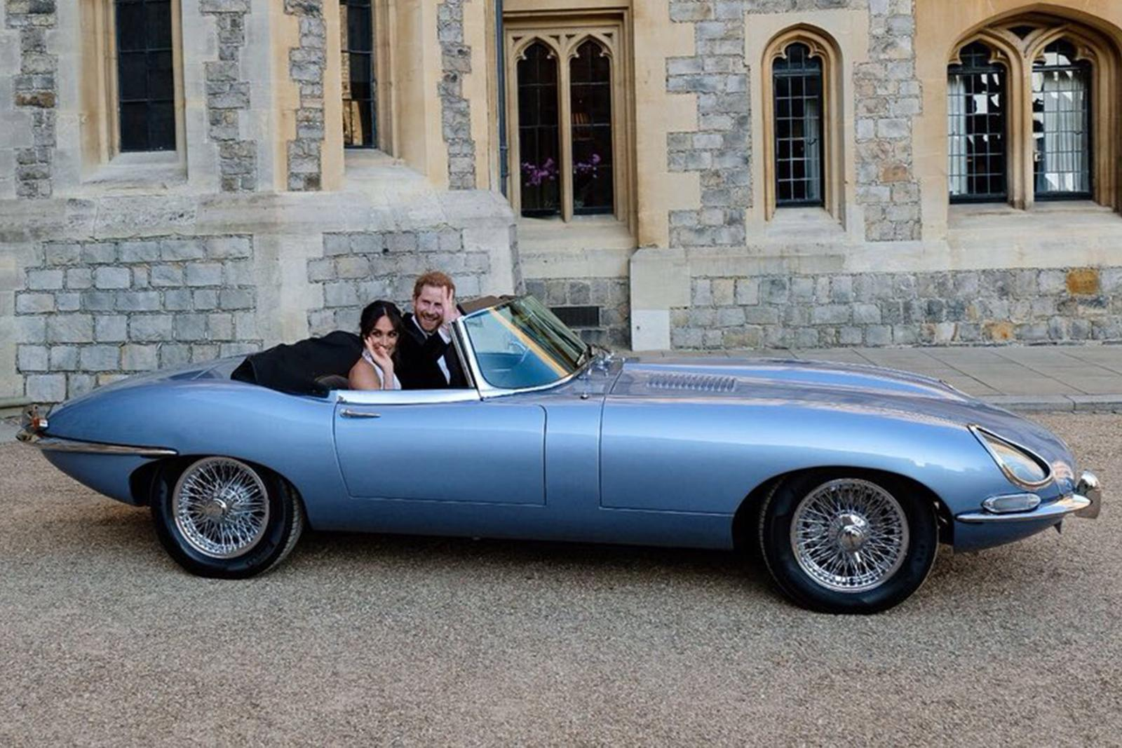 Princ Harry a Meghan Markle - Jaguar E-Type Zero