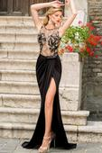 čierne šaty čipkovane, 38