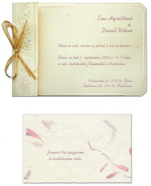 Dadi & Evita - Nase tlacene svadobne oznamko