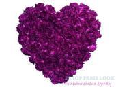 Dekorace srdce velké 50cm - různé barvy,