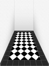 budoucí dlažba v chodbě