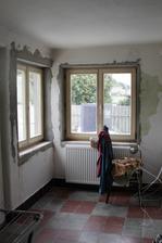 Veranda po výměně oken a před štukováním...