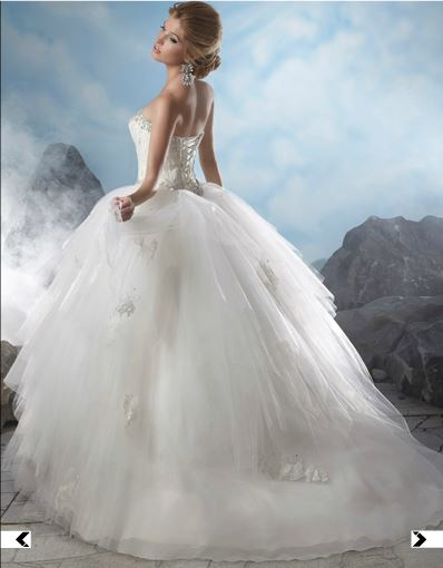 Original MGNY svadobne saty 36-40+ spodnica - Obrázok č. 4