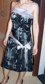 Ćierno-strieborné príležitostné šaty - 38 , M