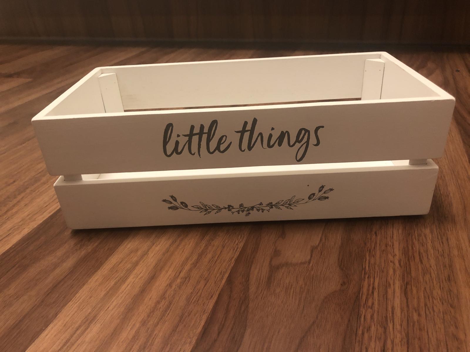 Dřevěná bedýnka Little Things - Obrázek č. 1