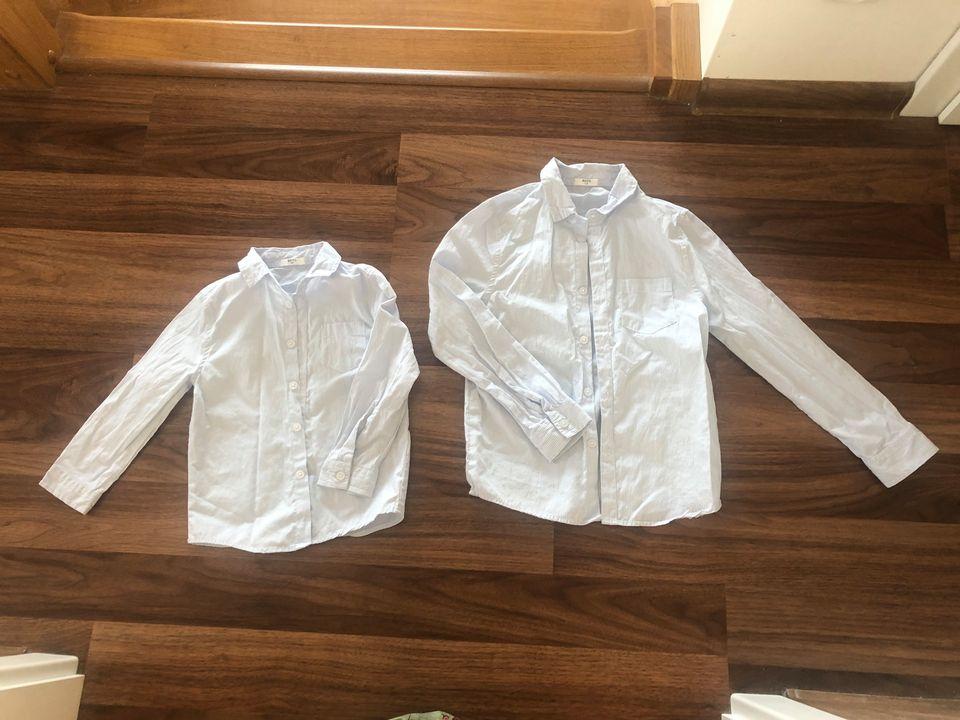 Bílé společenské košile s jemnými proužky 92 a 116 - Obrázek č. 1