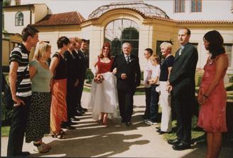 špalír pro nevěstu :oD