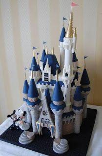 Královsky modrá pohádková svatba - mini verzi jako figurku na dort