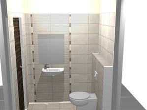 WC, zrkadlo bude az po listely... pohlad zboku, vstup je nalavo..