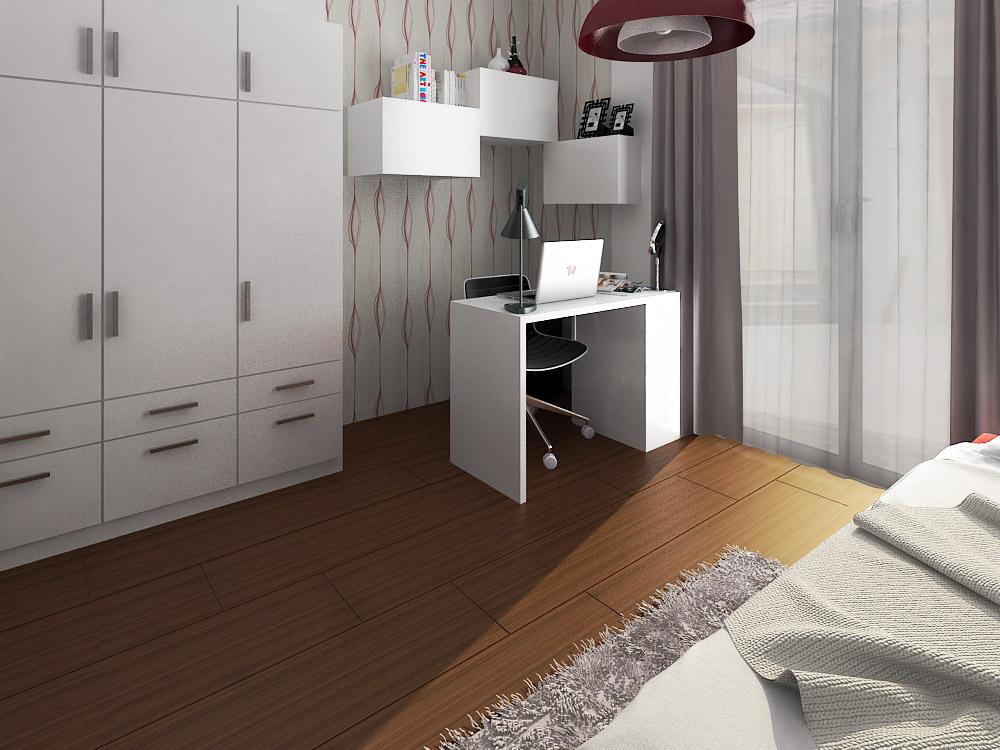 Projekt hostovska  nakoniec detska :-D - verzia 4 zmena len na druhej strane izby...  prehodeny klavir  a postel
