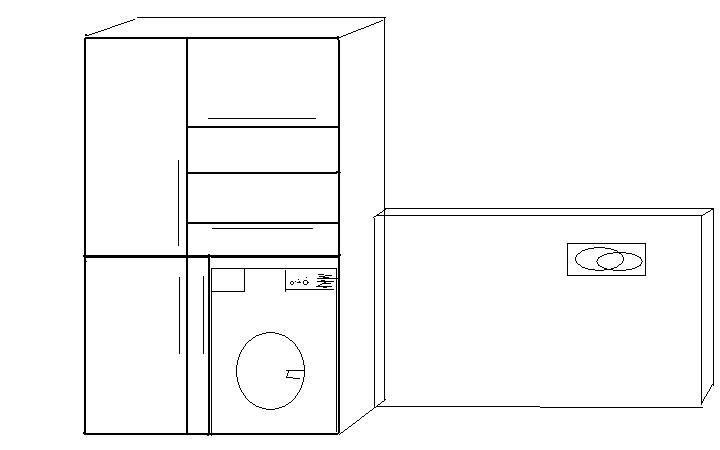 Skrinkové peripetie - za dvere vedla bidetu a WC pojde takato skrina az po strop...