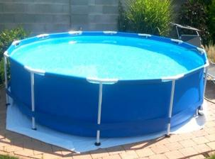 Kupacia sezona zahajena..  novy bazen nainštalovany. 3,66 priemer, ale zda sa byt vacsi a je aj dost vysoky...Stačí :)