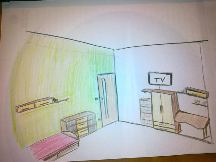 Detska - studentska izba - Alebo takto? od postele po vypinac je cca. 123cm.. prava strana mi pride rozhádzana ..