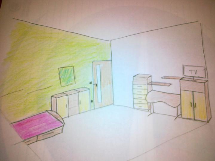 Detska - studentska izba - Verzia len s policami... ako pisala @stolverka  ... obe skrinky 150cm vysoke...