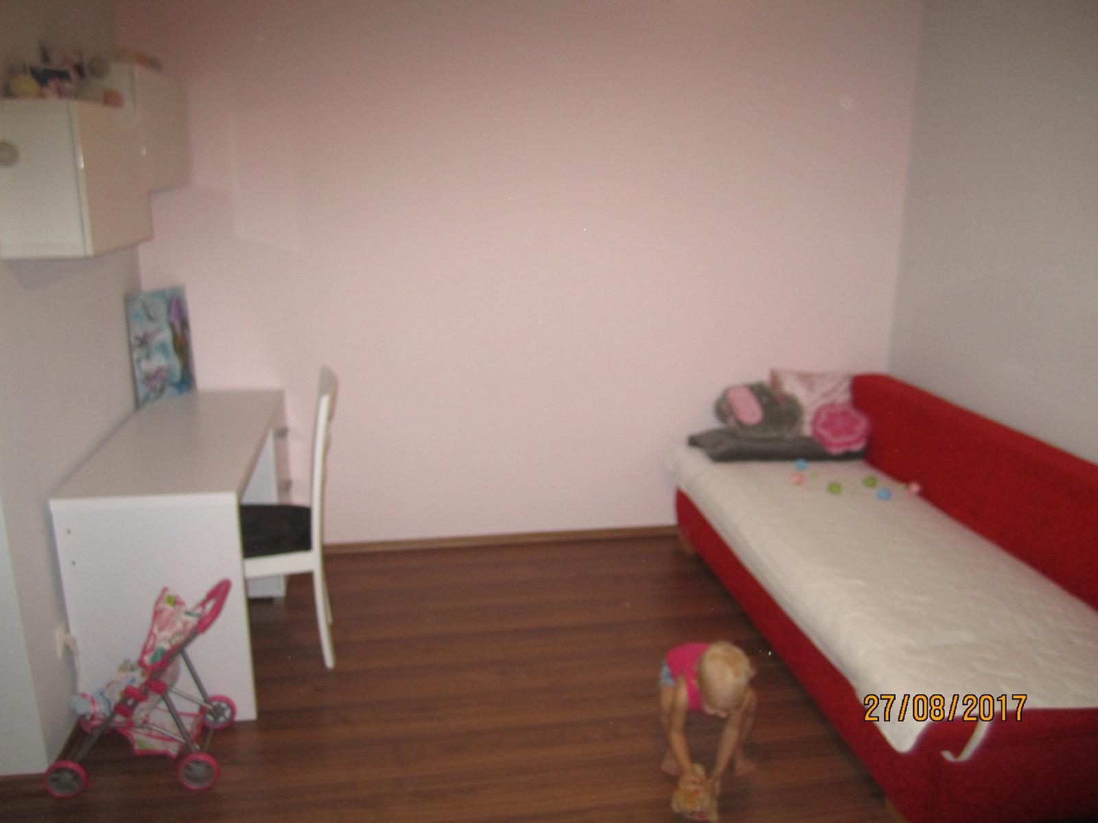 Projekt hostovska  nakoniec detska :-D - sice rozmazane, ale realnejsie farby...postel bude ina.. biela z IKEA