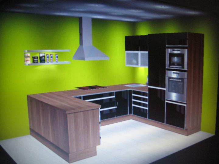 Inšpirácie - zelena a cierna:-)