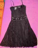 Čierne šaty s mašlou, M