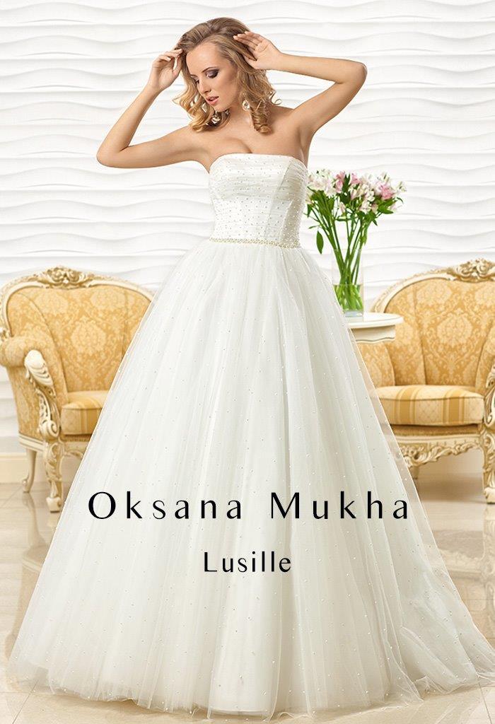Luxusni ivory šaty s perlami Oksana Mukha  - Obrázek č. 2