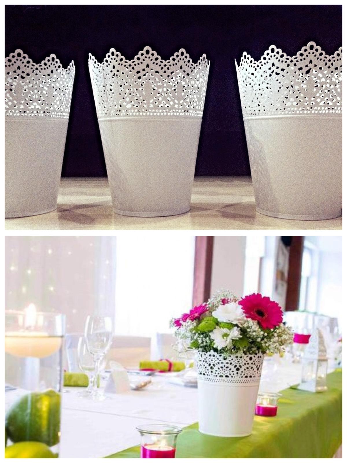 Krásna cesta svadobnými prípravami sa začala.... - kvetináče kúpené,aranžovať ich budem sama 💐