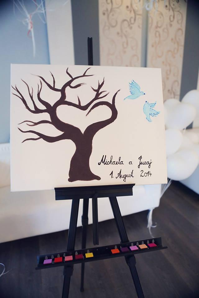 Michaela Papanek{{_AND_}}Juraj Papanek - náš svadobný strom s pečiatkami na odtlačky prstov